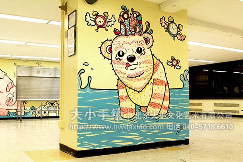 幼儿园墙绘,办公室手绘墙,北京墙绘公司