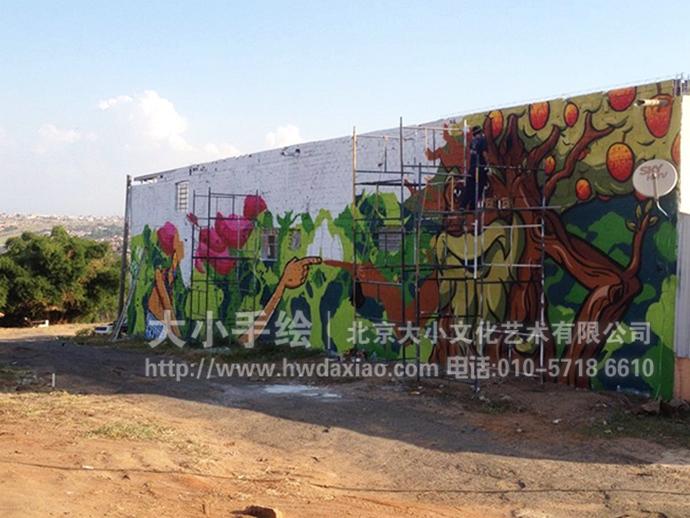 超凡想象力的街头涂鸦手绘墙壁画图片