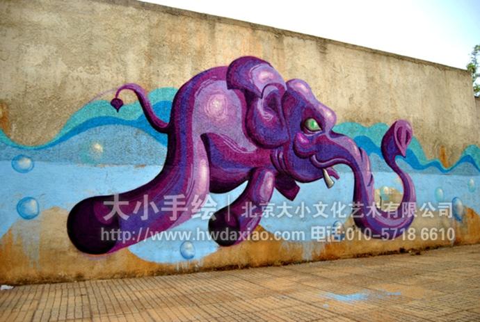 一些国外的户外街头涂鸦墙体彩绘欣赏图片