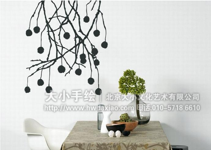 """同时,也可以关注我们的微信公众平台大小创意壁画,那里有更多好玩有趣的手绘作品欣赏。 [[img ALT=""""简约墙绘,黑白线条彩绘,家居美化手绘墙,室内壁画,餐厅手绘墙,办公室手绘墙,北京墙绘公司"""" src=""""http://simg.sinajs.cn/blog7style/images/common/sg_trans.gif"""" real_src =""""http://www."""