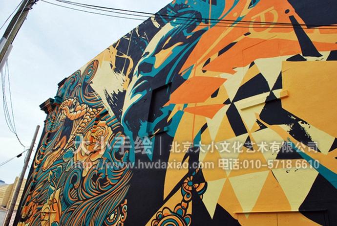 大型户外墙绘,人物肖像彩绘,蛇手绘墙,街头涂鸦壁画,餐厅手绘墙,办公