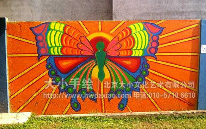 非洲草原动物墙绘,校园彩绘,文化墙手绘墙,儿童画壁画,餐厅手绘墙