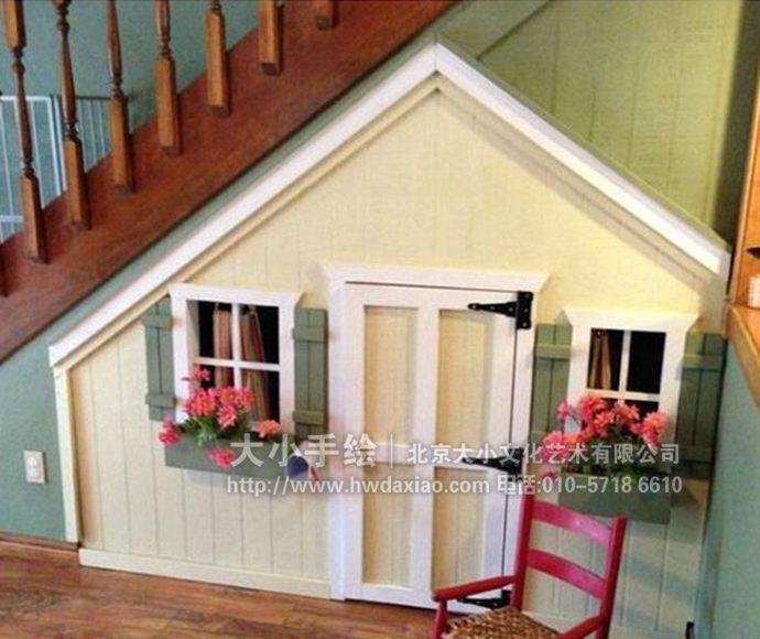 楼梯间墙绘,儿童房彩绘,卡通房手绘墙,创意壁画,餐厅手绘墙,办公室