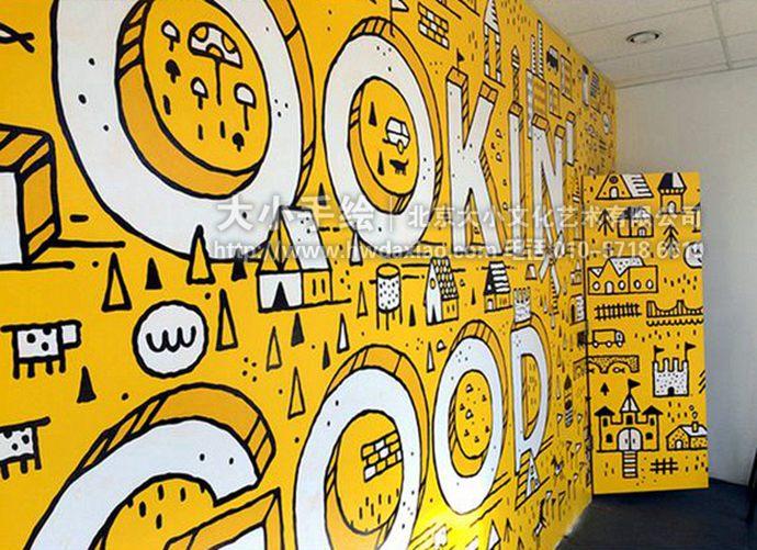 抽象墙绘,文字彩绘,房屋手绘墙,店铺装饰壁画,餐厅手绘墙,办公室手绘