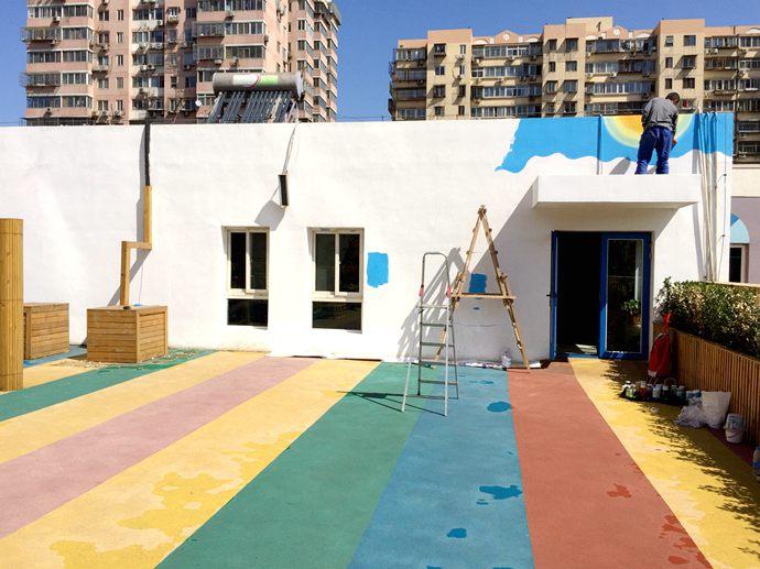 幼儿园墙绘,海滩风景彩绘,儿童房手绘墙,校园壁画,餐厅手绘墙,办公室