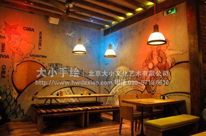 旅行墙绘,复古彩绘,地图手绘墙,酒吧壁画,餐厅手绘墙,办公室手绘墙