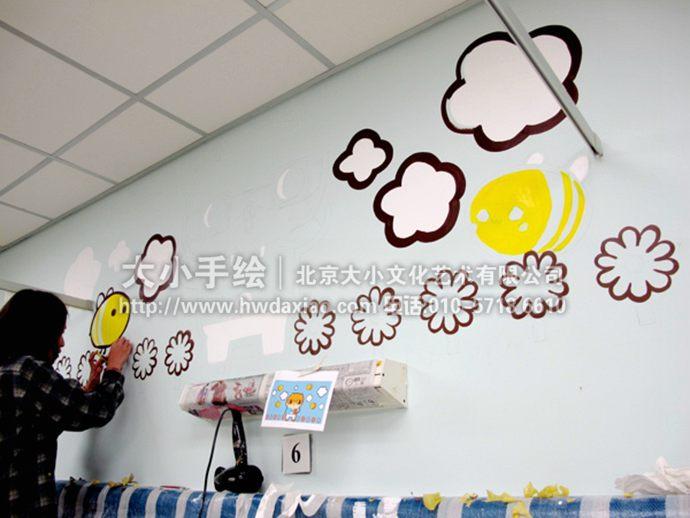 可爱熊医生:儿童房主题手绘墙壁画