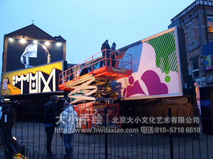 创意设计和精湛画技,为人们展示了一个有一个富有创新精神的手绘墙