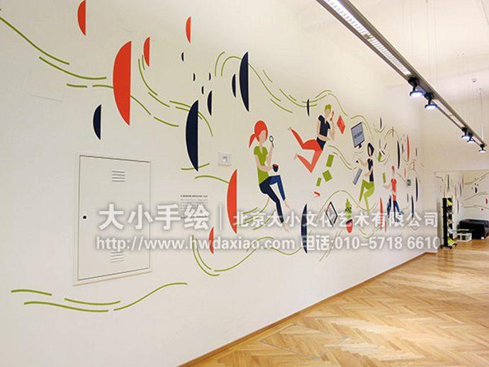 清新墙绘,简约手绘墙,走廊彩绘,客厅壁画,餐厅手绘墙,办公室手绘墙