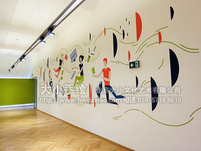 走廊彩绘,客厅壁画,餐厅手绘墙,办公室手绘墙,北京墙绘公司