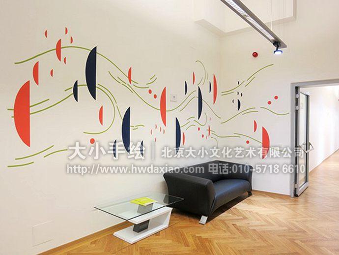 清新墙绘,简约手绘墙,走廊彩绘,客厅壁画,餐厅手绘墙,办公室手绘墙,北