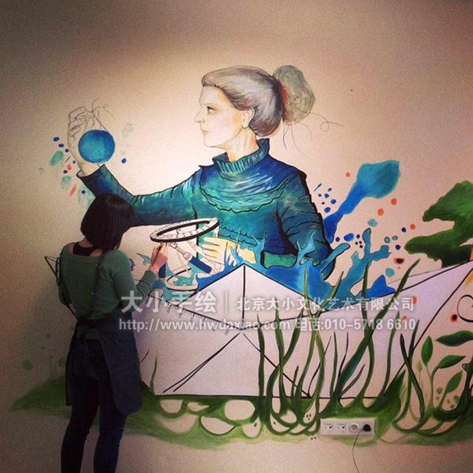 唯美艺术手绘墙壁画欣赏