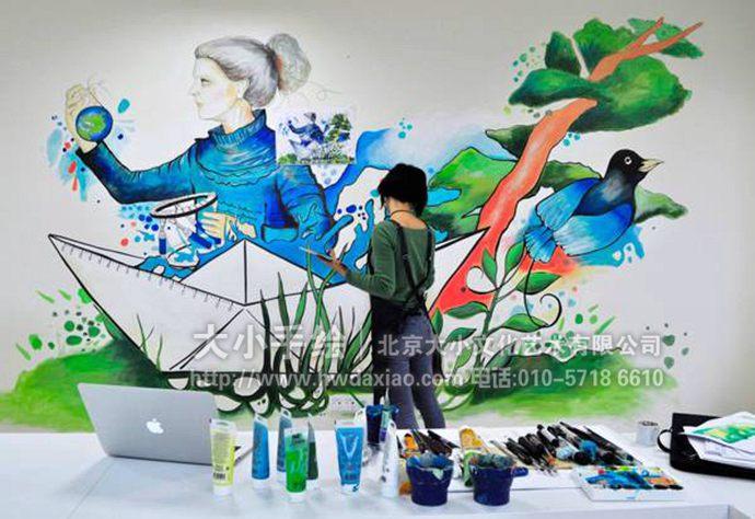 人物墙绘,艺术手绘墙,会议室彩绘,校园壁画,餐厅手绘墙,办公室手绘墙