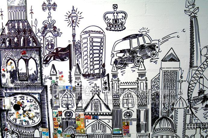 手绘墙壁画创意详情请点击>http://www.hwdaxiao. com.