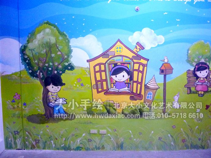 孩子们喜爱的手绘墙壁画