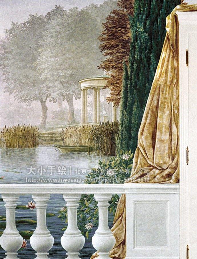 精品墙绘,孔雀手绘墙,风景彩绘,别墅壁画,餐厅手绘墙,办公室手绘墙,北