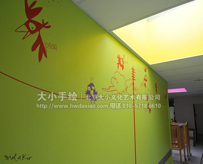 卡通墙绘,涂鸦手绘墙,儿童房彩绘,创意壁画,餐厅手绘墙,办公室手绘墙