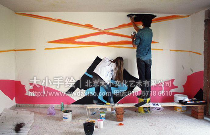 山,路,狗,餐厅手绘墙,办公室手绘墙,北京墙绘公司,室内墙绘,墙绘素材