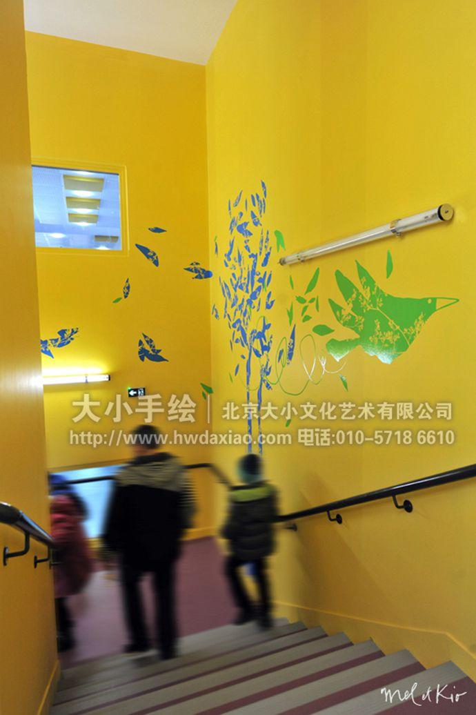 走廊壁画,户外高空墙绘,餐厅手绘墙,办公室手绘墙,北京墙绘公司,室内