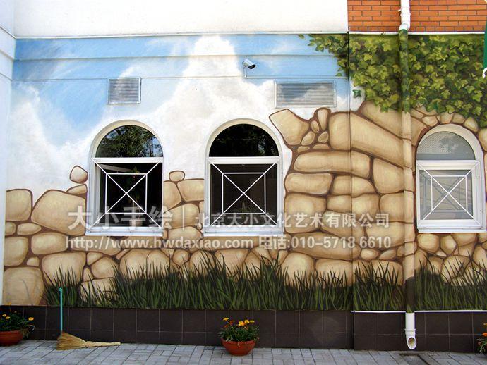 神奇的具有避暑降温功效的餐厅手绘墙壁画