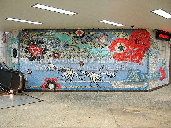 办公室涂鸦手绘墙壁画欣赏 墙体彩绘