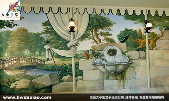 北京大小墙绘公司手绘墙
