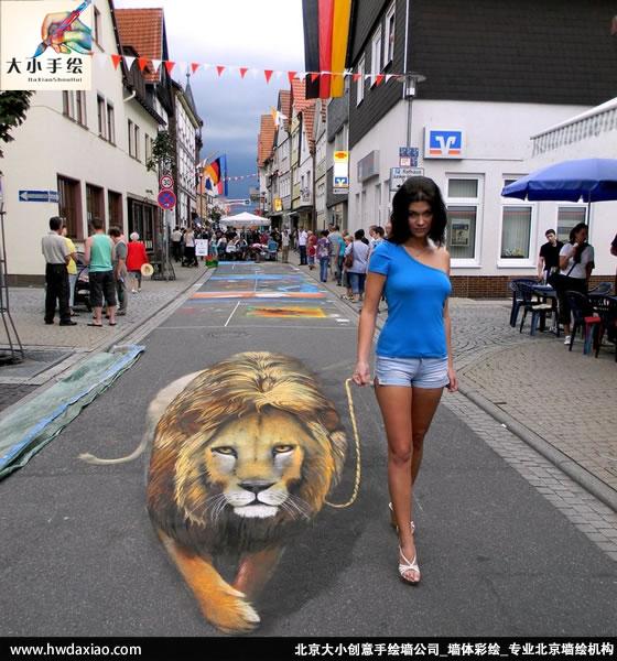 极具创意的街头3d立体画2