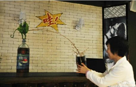街舞涂鸦画_3D绘画咖啡馆-大小墙体彩绘公司
